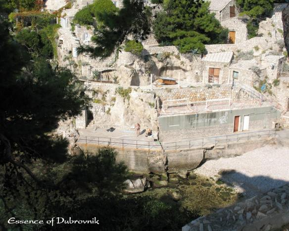 A terraced home built on the rocky hillside in Dubrovnik