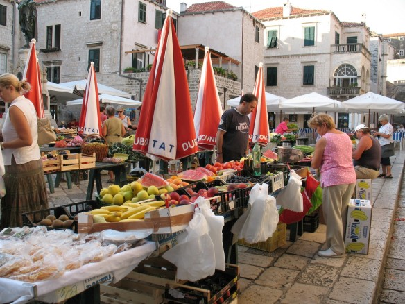 Old town green market