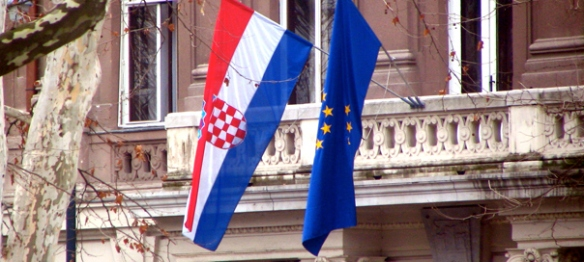 Croatian and EU flags