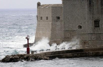 Winter storm on the Porporela