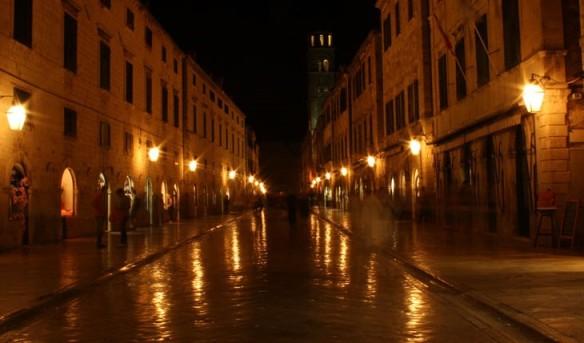 Stradun at night