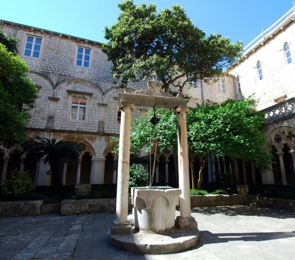 Center courtyard with stone cistern