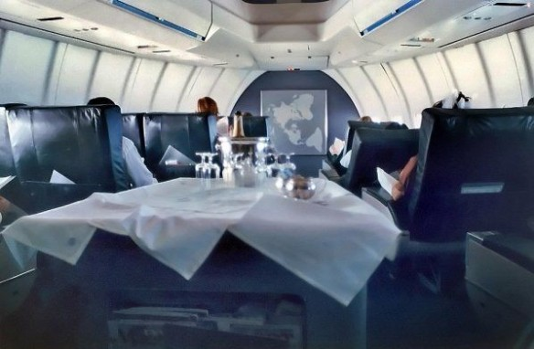 Pan Am First class cabin